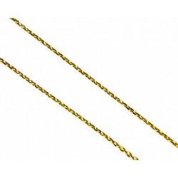 Cadena de oro de 9kl com  malla forzada en 45cm de largo y cierre de anilla - 9K206445/1.65