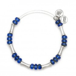Pulsera de metal plateado Glade Azul de Alex and Ani - A13EB26RS