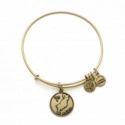 Pulsera de metal dorado con signo Aries de Alex and Ani - A13EB01ARRG