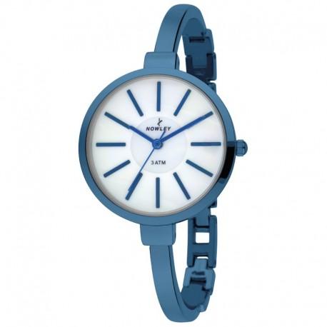 Reloj analógico Nowley con armis en acero pavonado azul - 8-5682-0-0