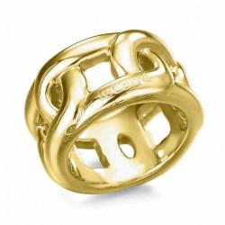 Anillo de plata recubierto de oro amarillo de 18 kl - LA037AM.15