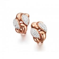 Pendientes de plata recubiertos de oro rosé de 18 kl con circonitas  - LB010RS.00