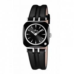 Reloj Lotus analógico con correa de piel negra - 15853/6
