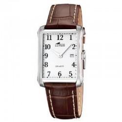 Reloj Lotus analógico con correa de piel marrón - 15627/1