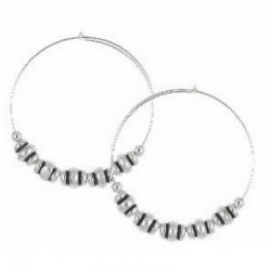 Pendientes de aro de metal plateado de Alex and Ani - A10EH025RS