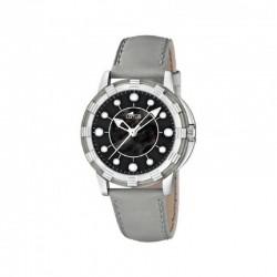 Reloj Lotus analógico con correa de piel color gris - 15747/8