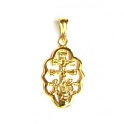 Cruz de Caravaca con cerco de oro de 18 kl - 20000018/1.10
