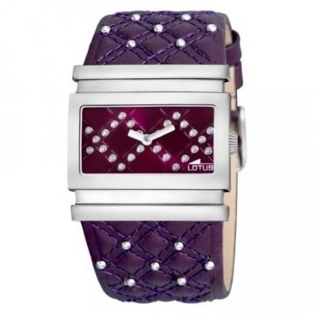 90b05c839470 Reloj Lotus analógico con correa de piel color morado - 15541 2