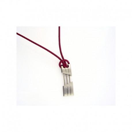 Collar Viceroy de acero con cordón de cuero - 7015/C01017