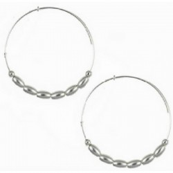 Pendientes aros de metal plateado de Alex and Ani - A10EH027RS
