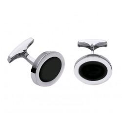 Gemelos de plata con onix de Pedro Durán - 00074125