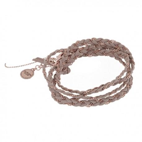 Pulsera de cordón de cuero de 3 vueltas de Duran Exquse - 00504048