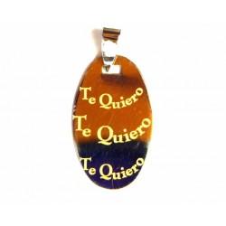 Colgante de plata y oro con inscripción Te Quiero - 82548/0.7