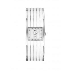 Reloj Go cin armis de acero con esmalte blanco - 694691