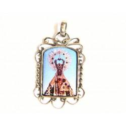 Medalla rectangular  de plata y esmalte al fuego con imagen de la Virgen de Guadalupe - 50919