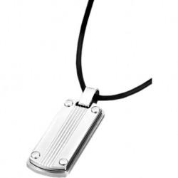 Colgante de acero para caballero de lotus style con cordon de cuero - LS1730/1/1