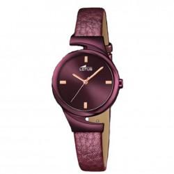 Reloj analógico para señora de Lotus con correa de piel - 18346/1