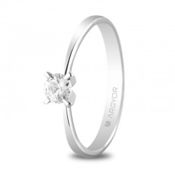 Solitario de oro blanco con diamante - 74B0030/0.24CT