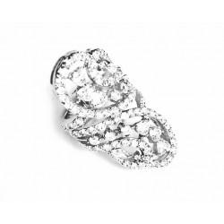 Anillo de plata con circonitas - 8862