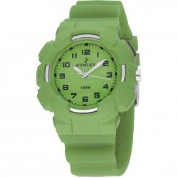 Reloj analógico de Nowley unisex con correa de caucho verde - 8-6212-0-5