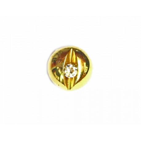Colgante de oro redondo con circonita - 14362