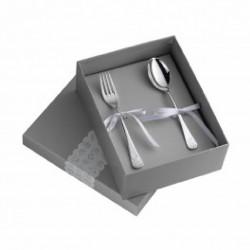 Set de 2 cubiertos de plaqué de plata con osito de Pedro Duran - 02304637