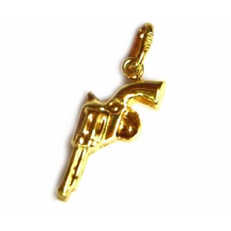 Colgante de oro de 18 kl pistola - 7396/0.6