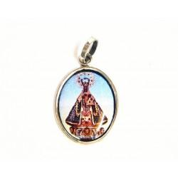 Medalla ovalada de plata y esmalte al fuego con imagen de la Virgen de Guadalupe - 50929