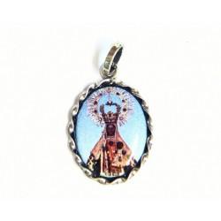 Medalla ovalada de plata y esmalte al fuego con imagen de la Virgen de Guadalupe - 50929T