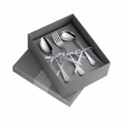 Set de 3 cubiertos de plaqué de plata con osito de Pedro Duran - 02304638