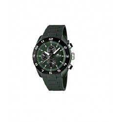 Reloj Lotus cronómetro con correa de caucho verde oscuro - 15842/4