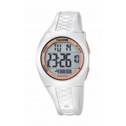 Reloj digital para señora de Calypso con correa de caucho blanca - K5668/1