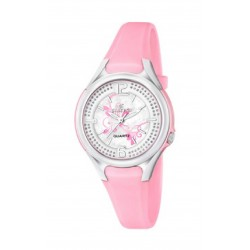 Reloj Calypso analogio con correa de caucho color rosa - K5575/2