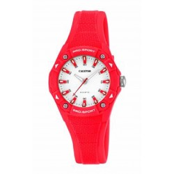 Reloj Calypso analógico con correa de caucho roja - K5675/7
