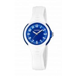 Reloj Calypso analogio con correa de caucho blanca - K5686/5
