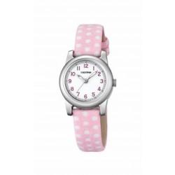 Reloj Calypso analógico con correa de piel rosa - K5713/2