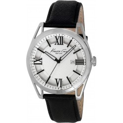 Reloj Kenneth Cole con correa de piel negra - IKC8072
