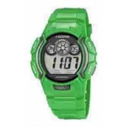 Reloj Calypso cronometro digital con correa de caucho color verde - K5592/6