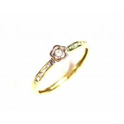 Anillo de oro de 9 kl bicolor con circonitas - 9K20627/2