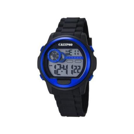 Reloj Calypso digital negro y azul K5667/3