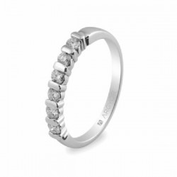 Anillo de oro blanco con diamantes - 74B0021/0.39CT