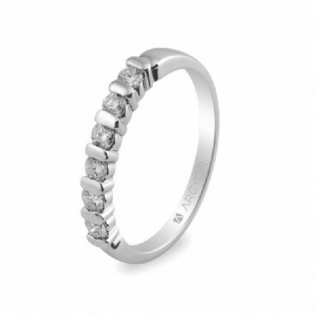 Anillo de oro blanco con diamantes - 74B0021/0.39CT