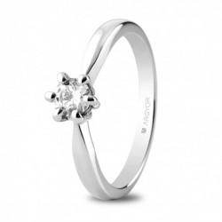 Anillo compromiso  de oro blanco con  un diamante - 74B0040/0.34CT