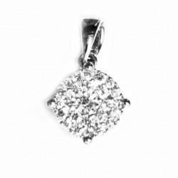 Colgante de oro blanco con diamantes - CP28337/0.27CT