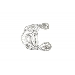 Brazaleta en acero con circulos 30000481