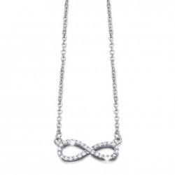 Colgante de plata con circonitas de la colección minimals, nudo infinito - AG4.00046