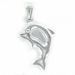 Colgante de plata Delfin en veintidós milimetros