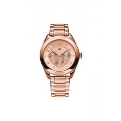 Reloj Tommy Hilfiger multifunción con armis de acero color cobrizo - 1781204