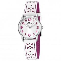 Reloj analogico para niña de Lotus con correa de flores - 15708/2