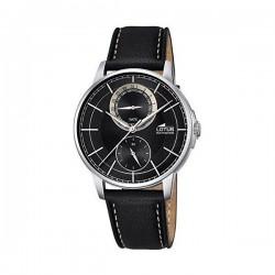 Reloj multifunción para caballero de lotus con caja de acero y esfera negra - 18323/3